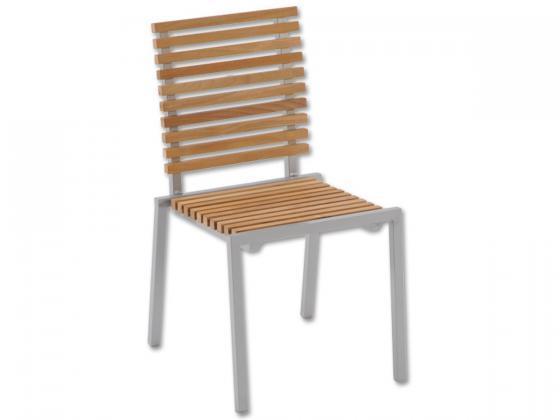 Conforama Pratteln Gartenmobel : Aluminium Stuhl mit HolzLamellen Louisiana  Aluminium Gartenmöbel