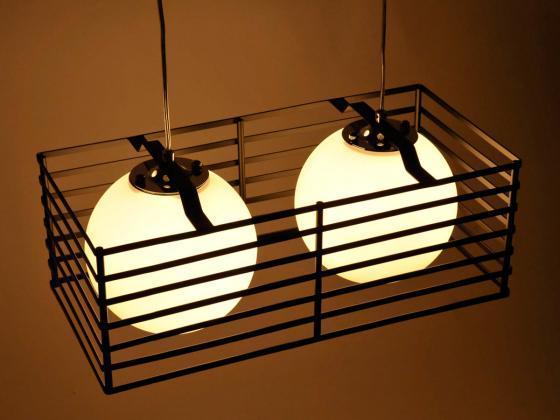 deckenleuchte h ngeleuchte mit glaskugeln schwarz wei 2 flammig innen au enbeleuchtung. Black Bedroom Furniture Sets. Home Design Ideas