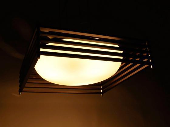 deckenleuchte pendelleuchte marseille gro er lampenschirm braun wei innen. Black Bedroom Furniture Sets. Home Design Ideas