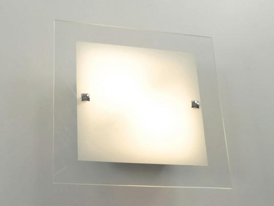 deckenleuchte wandlampe mit glaselement ma e ca 45x45 cm klar wei innen au enbeleuchtung. Black Bedroom Furniture Sets. Home Design Ideas