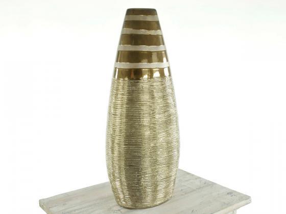 design vase becky 6 braun gold dekoartikel design shop. Black Bedroom Furniture Sets. Home Design Ideas