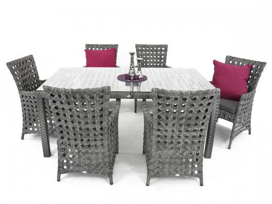 essgruppe aus polyrattan 7 teilig albi 1 essgruppen. Black Bedroom Furniture Sets. Home Design Ideas