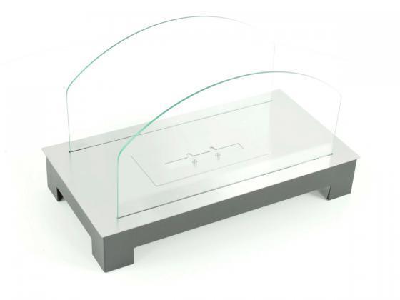 ethanol tischkamin schwarzes stahlgeh use mit feuerfestem glasschutz ethanol fen design shop. Black Bedroom Furniture Sets. Home Design Ideas