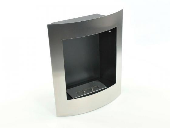 ethanol wandkamin edelstahl geh use pulverbeschichtete stahlwand ethanol fen design shop. Black Bedroom Furniture Sets. Home Design Ideas