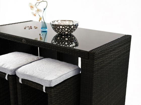 gartenbar aus polyrattan madrid schwarz loungem bel design shop. Black Bedroom Furniture Sets. Home Design Ideas