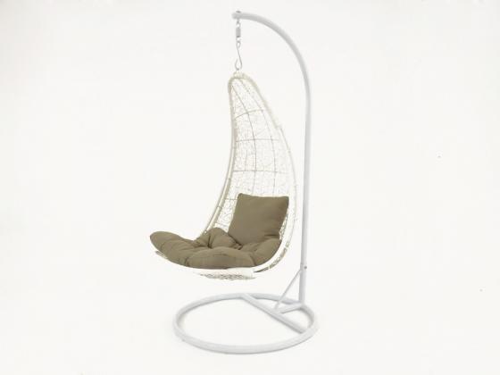 h ngestuhl h ngesessel mali aus polyrattan in wei h ngesessel design shop. Black Bedroom Furniture Sets. Home Design Ideas
