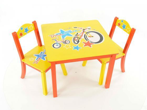 Kindermöbel tisch und stühle  Kindermöbelset Tisch und Stühle - rot / gelb / blau | Kindermöbel ...