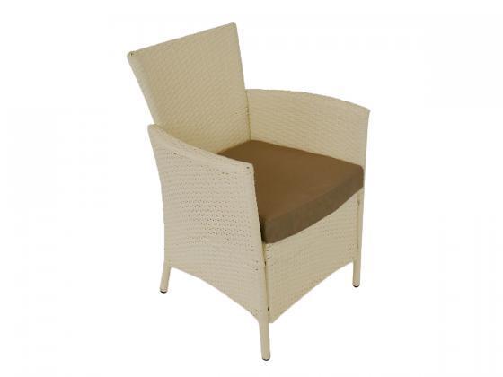 lounge sitzgruppe garnitur aus polyrattan wei 4 tlg loungem bel design shop. Black Bedroom Furniture Sets. Home Design Ideas