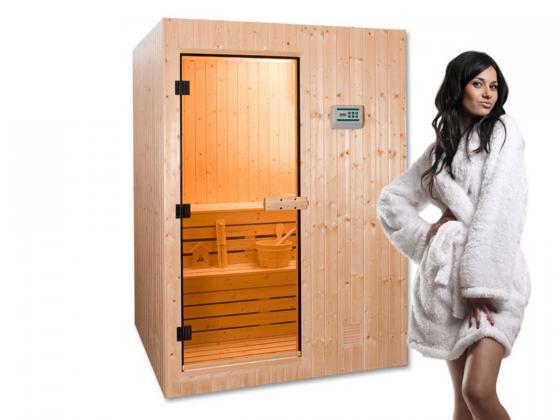 sauna element sauna mit ofen 4 5 kw saunakabinen design shop. Black Bedroom Furniture Sets. Home Design Ideas