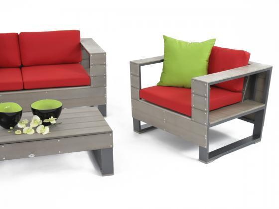 Gartenmobel Aus Holz Reinigen : Sitzgarnitur aus Polywood Avila 4teilig in grau  Loungemöbel