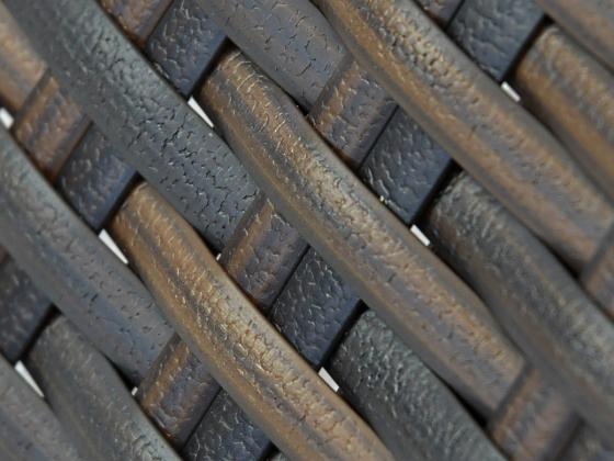sonnenliege loungeliege aus polyrattan in braun sonnenliegen design shop. Black Bedroom Furniture Sets. Home Design Ideas