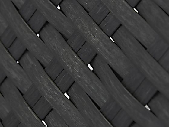 Gartenmobel Alu Pulverbeschichtet : Sonnenliege Loungeliege aus Polyrattan in schwarz  Sonnenliegen
