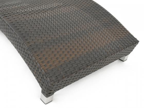 sonnenliege s lounge loungeliege aus polyrattan in braun sonnenliegen design shop. Black Bedroom Furniture Sets. Home Design Ideas