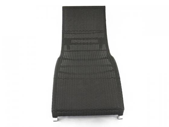 sonnenliege s lounge loungeliege aus polyrattan in schwarz sonnenliegen design shop. Black Bedroom Furniture Sets. Home Design Ideas
