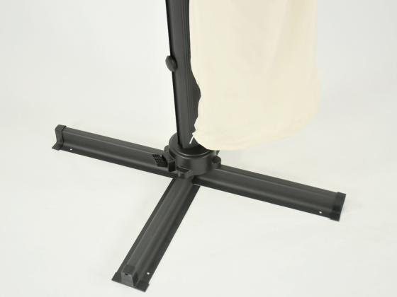 sonnenschirm ampelschirm 300x300 cm vanille. Black Bedroom Furniture Sets. Home Design Ideas