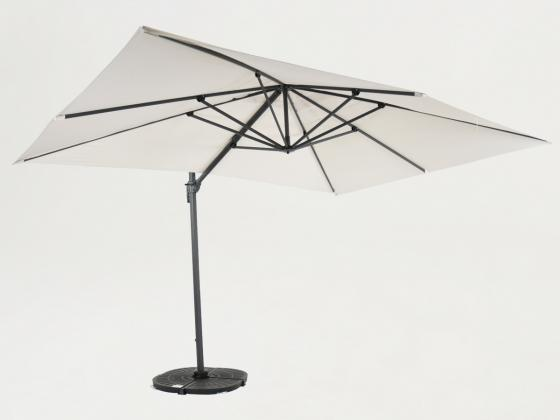 sonnenschirm ampelschirm 300x300 cm vanille sonnenschirme design shop. Black Bedroom Furniture Sets. Home Design Ideas