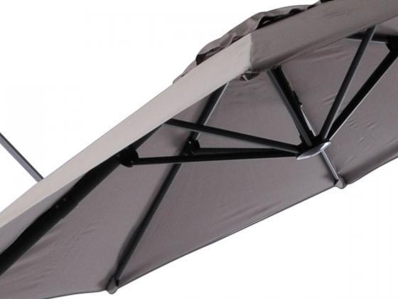 sonnenschirm ampelschirm roma 1 300 cm taupe. Black Bedroom Furniture Sets. Home Design Ideas