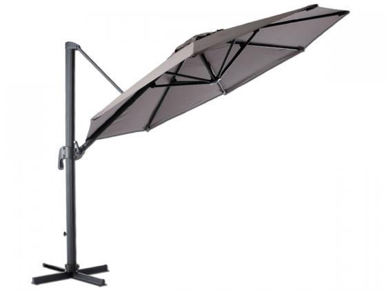 sonnenschirm ampelschirm roma 1 300 cm taupe sonnenschirme design shop. Black Bedroom Furniture Sets. Home Design Ideas