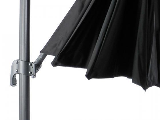 sonnenschirm roma 3 300 cm schwarz sonnenschirme design shop. Black Bedroom Furniture Sets. Home Design Ideas