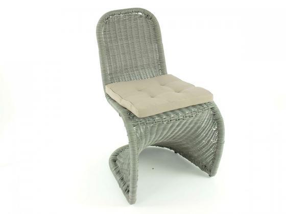 stuhl rio aus polyrattan inkl polster grau loungem bel design shop. Black Bedroom Furniture Sets. Home Design Ideas