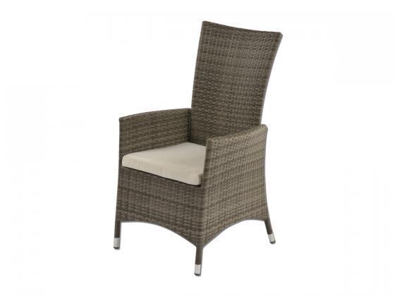 stuhl venedig aus polyrattan inkl polster grau loungem bel design shop. Black Bedroom Furniture Sets. Home Design Ideas