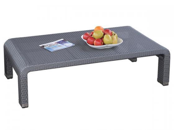 tisch nizza 1 aus polyrattan grau loungem bel design shop. Black Bedroom Furniture Sets. Home Design Ideas