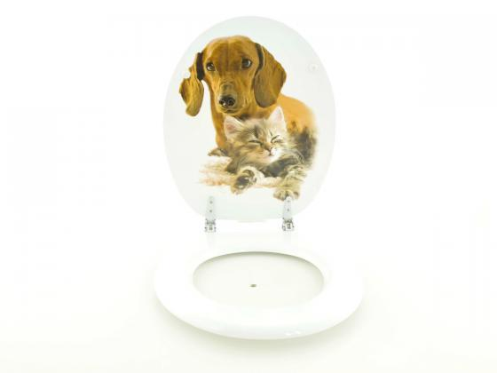 toilettendeckel wc sitz hund katze absenkautomatik. Black Bedroom Furniture Sets. Home Design Ideas