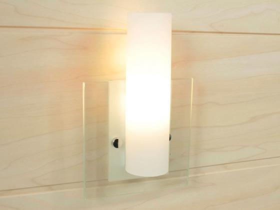 wandlampe wandleuchte mit milchglas ma e ca h t b 22x6 5x14 cm wei innen. Black Bedroom Furniture Sets. Home Design Ideas