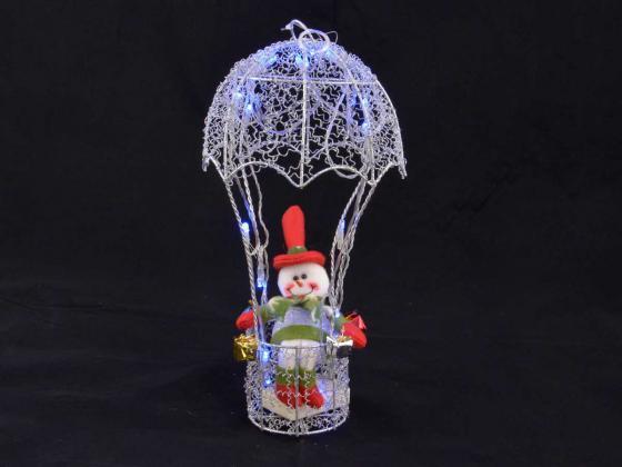 weihnachtsbeleuchtung fallschirm mit schneeman silber blau innen au enbeleuchtung design. Black Bedroom Furniture Sets. Home Design Ideas