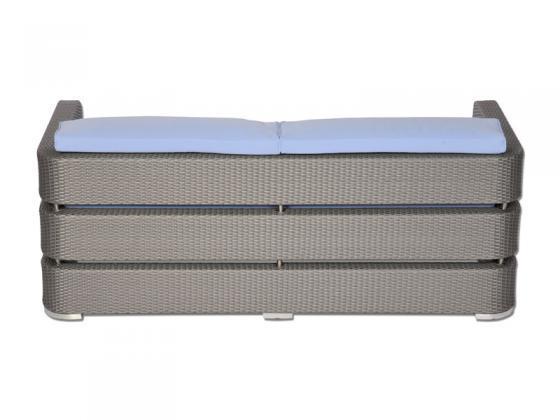 zweiersofa inkl polster nizza 1 aus polyrattan grau. Black Bedroom Furniture Sets. Home Design Ideas